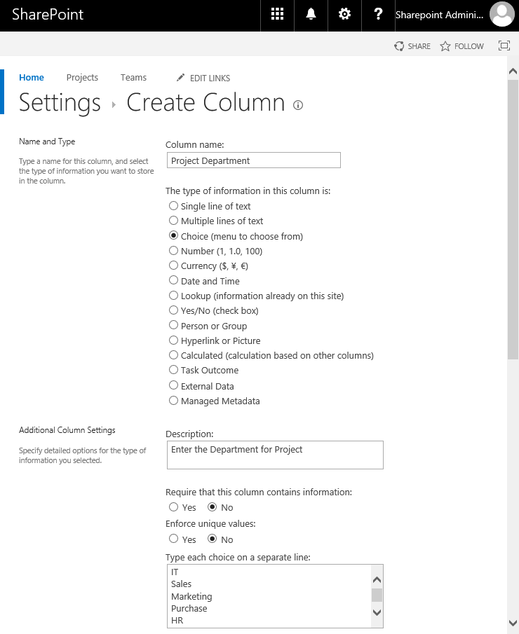 sharepoint online add choice column to list using powershell