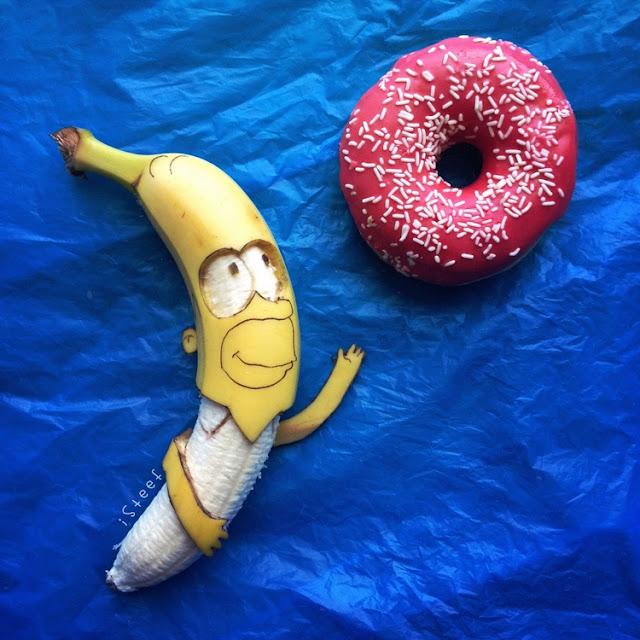 lukisan media pisang paling kreatif unik lucu dan menakjubkan-5