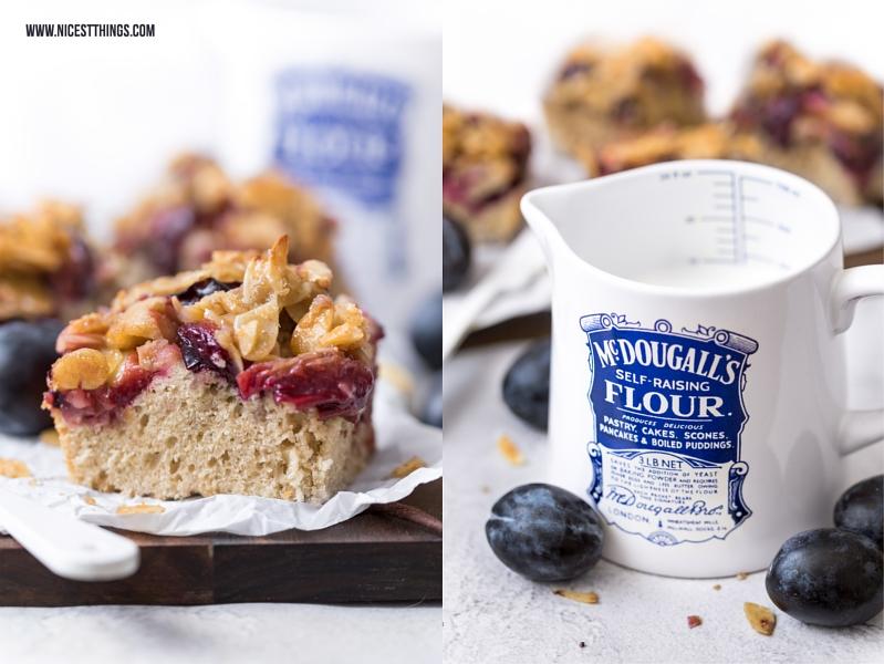 Zwetschgenkuchen Rezept vom Blech mt Mandel Krokant Streuseln