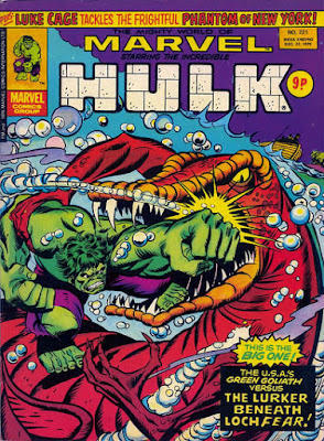 Mighty World of Marvel #221, Hulk vs Loch Fear Monster