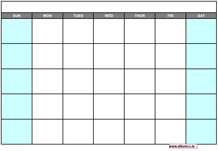Blank Calendar Grid To Print : Blank calendar grid collection to print