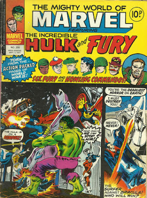 Mighty World of Marvel #258, the Hulk vs the Defenders, and Dracula vs the Silver Surfer