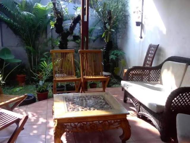 Taman Rumah Minimalis sebagai ruang tamu