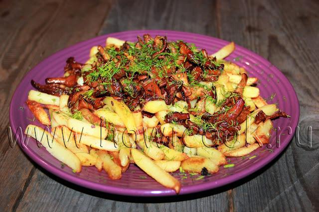 рецепт жареной картошки с лисичками