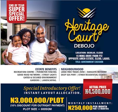 Buy From Heritage Court, Debojo at 3,000,000/plot