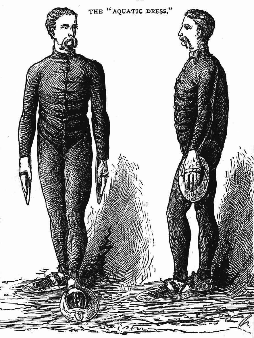 """1877 aquatic swimming gear, """"The Aquatic Dress"""""""