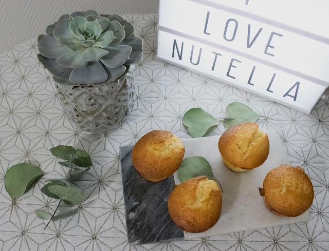 Gâteau - Muffins - Coeur au chocolat - nutella - recette - recette sucrée - gourmandise - coeur coulant