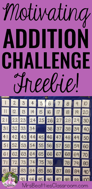 Motivate your students to practice their addition (and subtraction!) skills with this fun addition challenge! Easy to set up with the resources you already have in your classroom. Grab the details and some FREEBIES in this blog post from Mrs. Beattie's Classroom!
