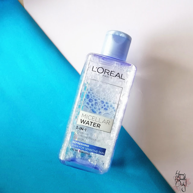 Review; L'oreal Paris' Micellar Water 3-in-1 (Refreshing Even For Sensitive Skin)