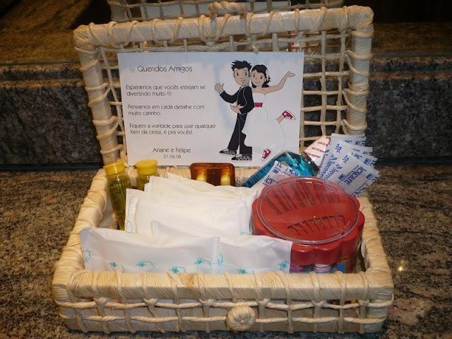 O que colocar no kit toalete do casamento