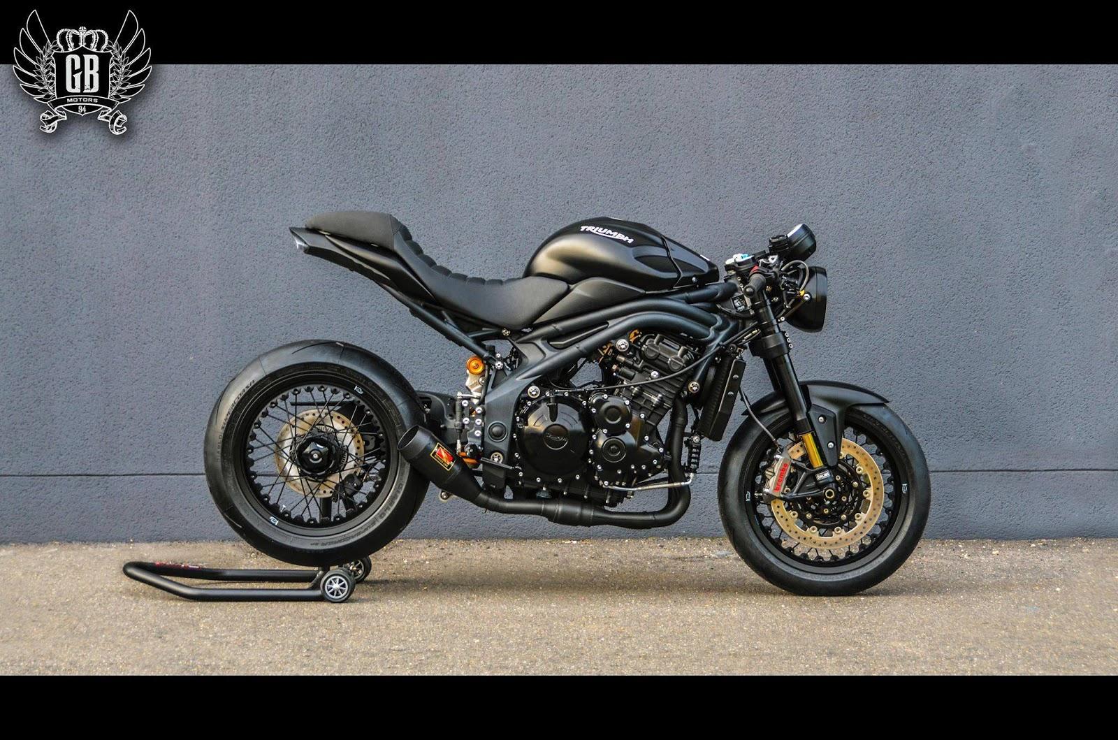 caf noir speed triple 1050 r abs rocketgarage cafe racer magazine. Black Bedroom Furniture Sets. Home Design Ideas