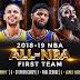 NBA divulga os times ideais da temporada regular