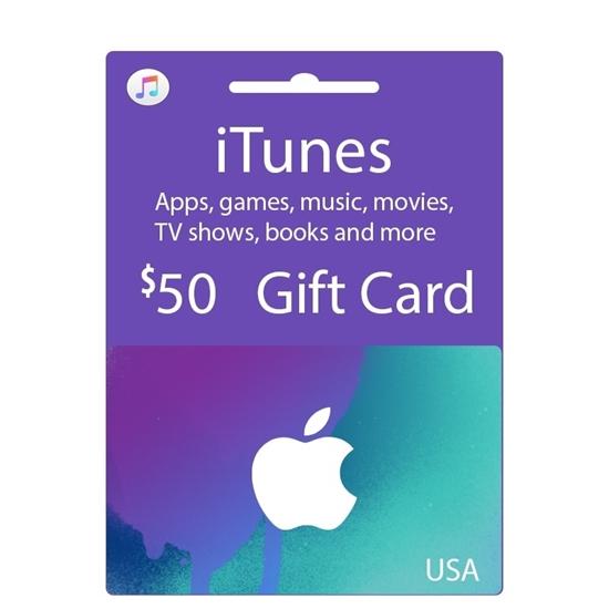 gift card itunes apple 50$ hệ mỹ 1.150.000 VNĐ