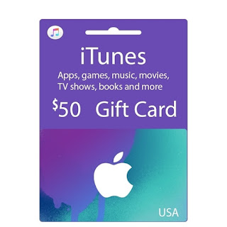 gift card itunes apple 50$ hệ mỹ <br><br> 1.100.000 VNĐ