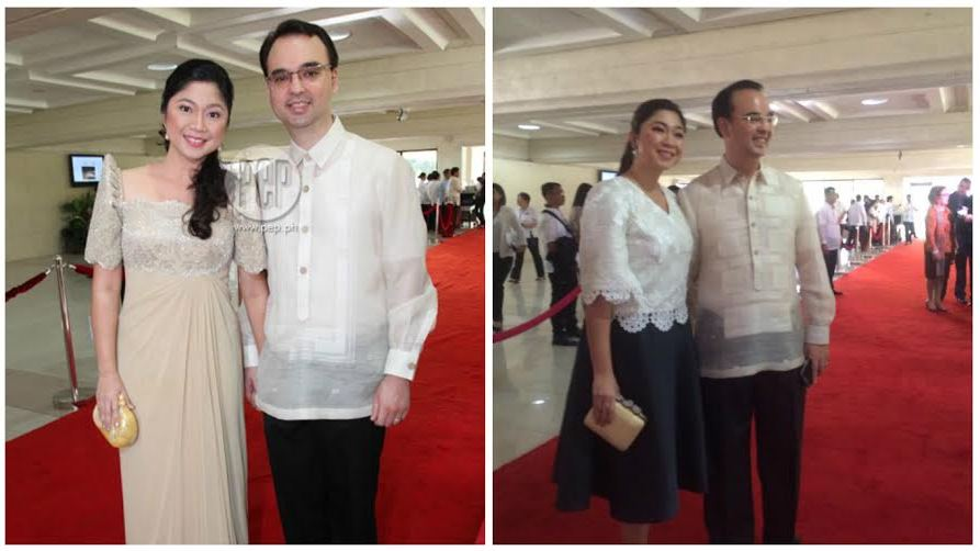 Sen. Alan Peter Cayetano and wife Taguig Mayor Lani Cayetano