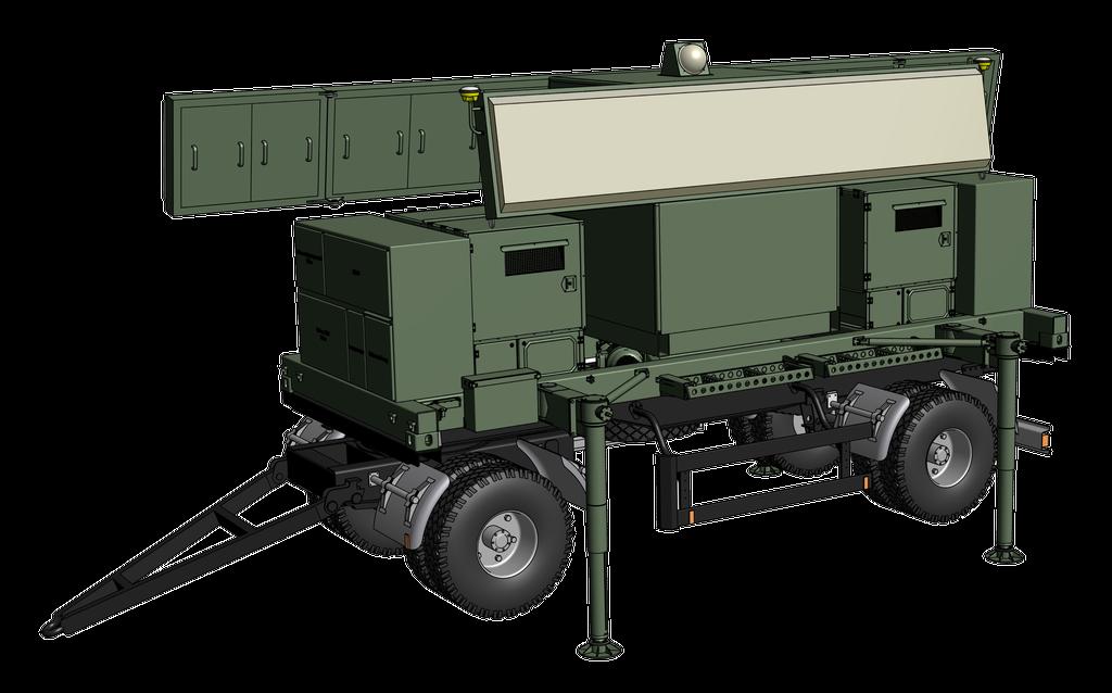 Твердотільний рухомий автономний вторинний радіолокатор Траса-М виробництва НВК Іскра