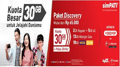 Paket Internet Murah Telkomsel 30 GB Rp.65.000 2018