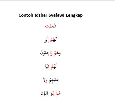 Contoh Idzhar Syafawi Lengkap Rajin Doa