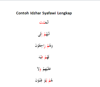 Contoh Idzhar Syafawi Lengkap