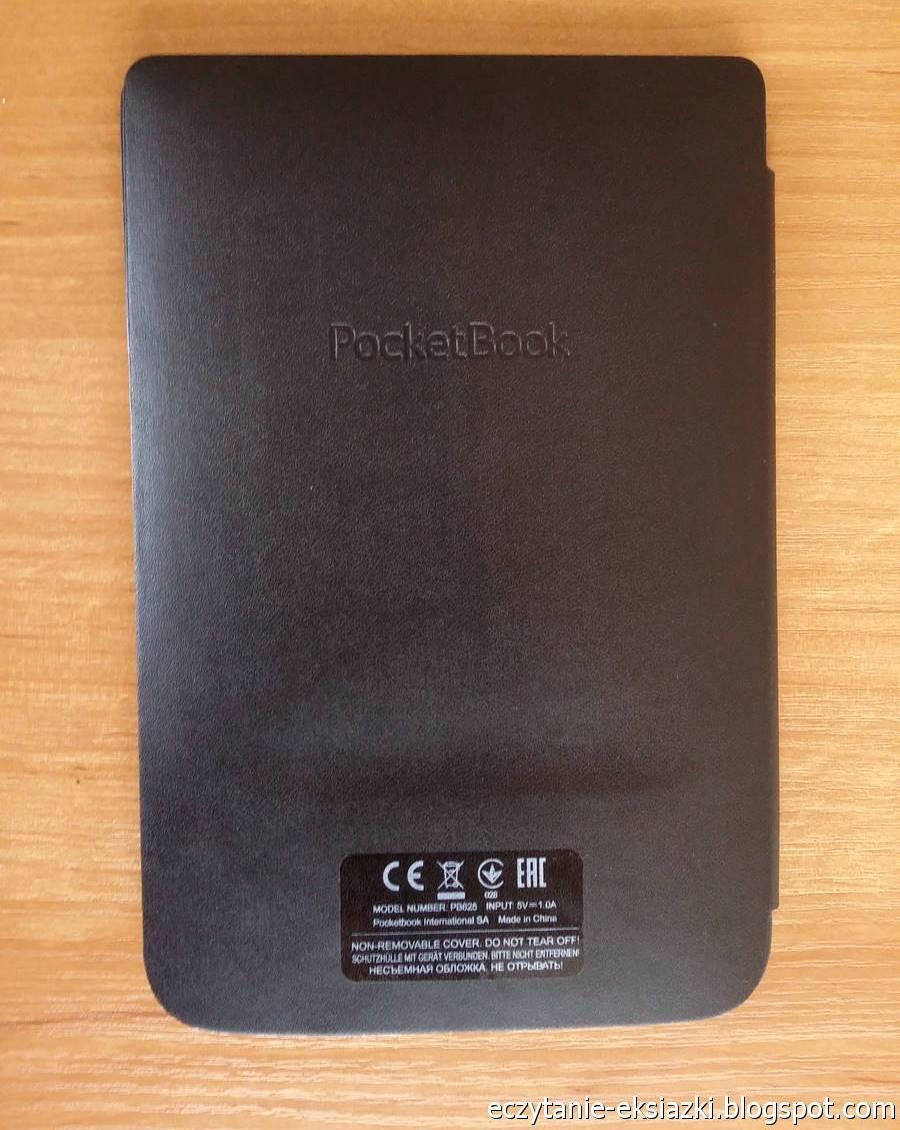 Tylna część zintegrowanej z obudową okładki czytnika PocketBook Basic Touch 2 Save & Safe