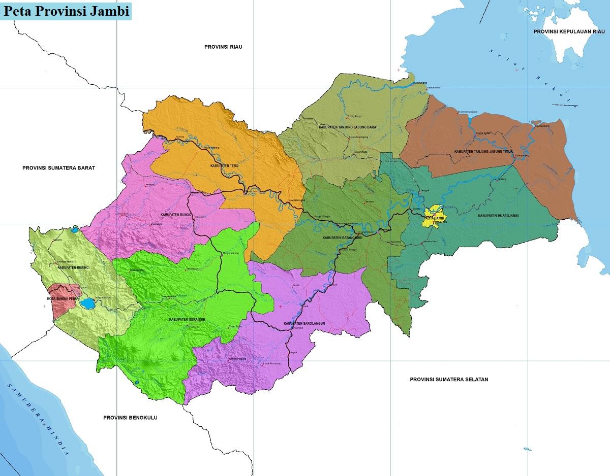 Peta Provinsi Jambi HD