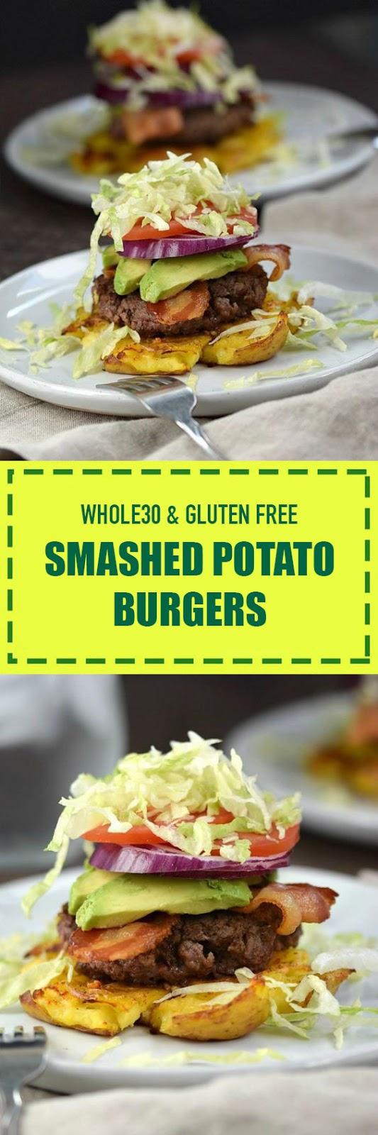 Whole30 & Gluten Free Smashed Potato Burgers
