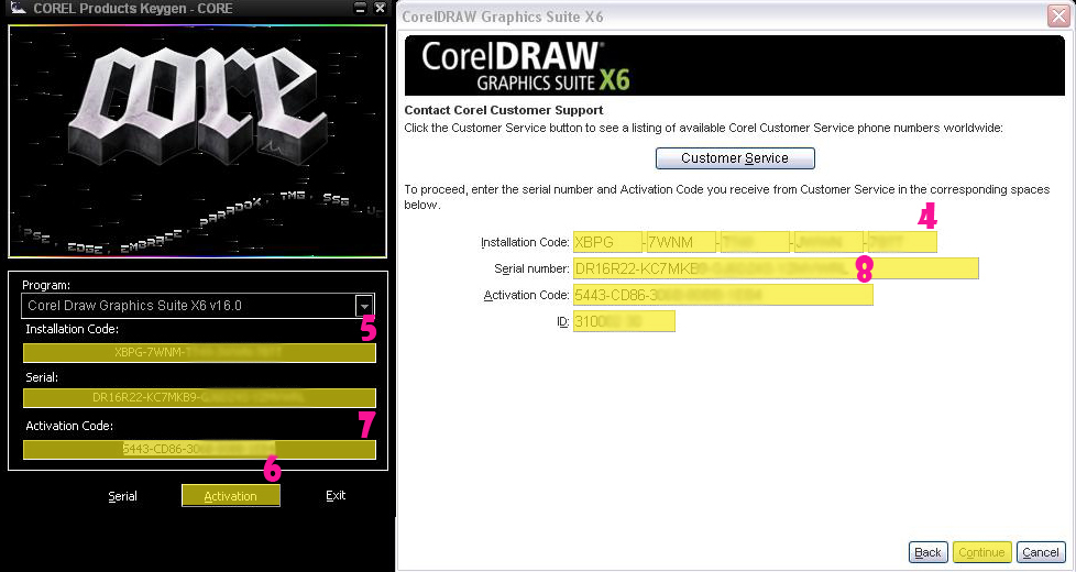 corel draw x6 invalid serial number