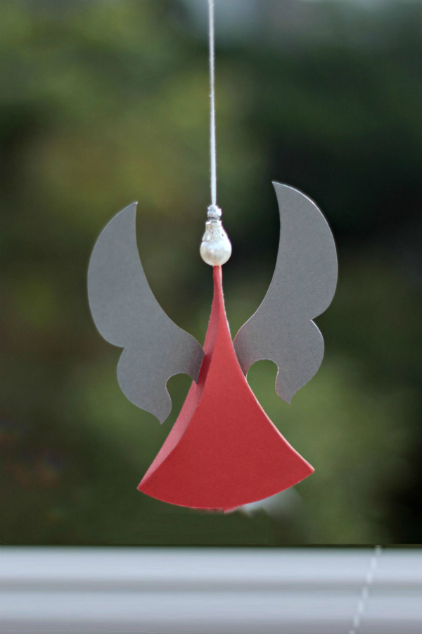 dimensional paper angel ornament