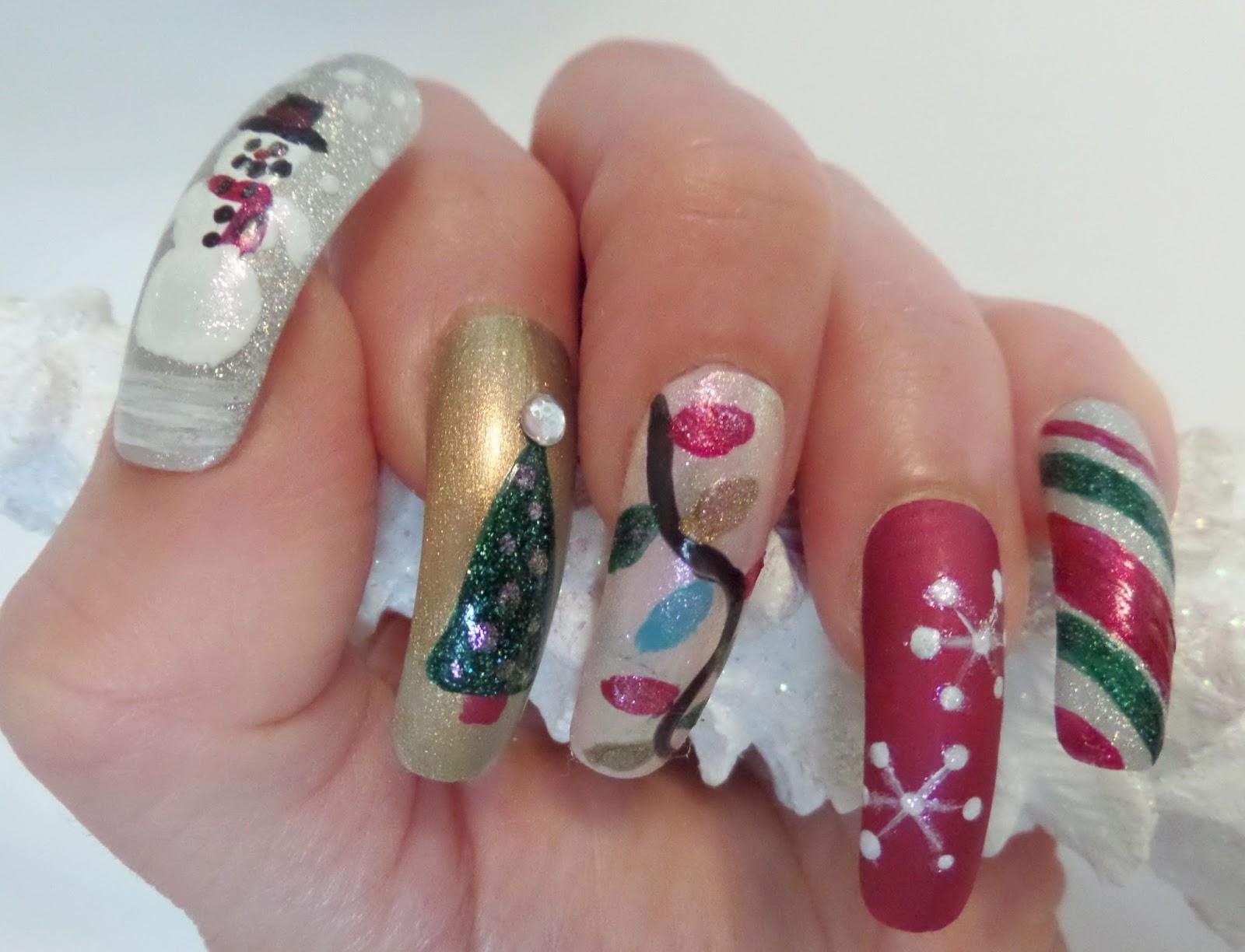 The Juicy Beauty Word: Zoya Polish Christmas Nail designs