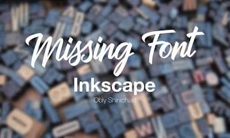 Installed Font tidak Muncul di Inkscape 0.92.3