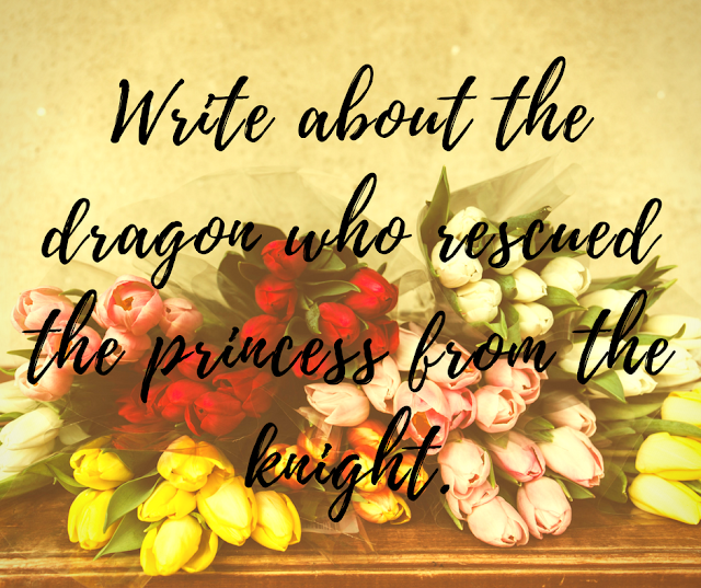 Write about the dragon who rescued the princess from the knight.