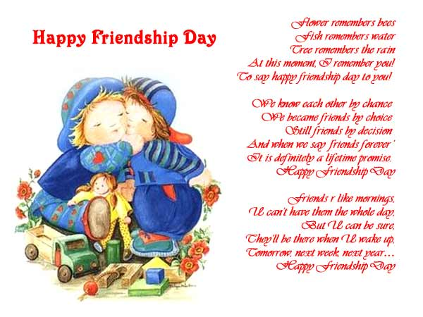 Best {25+} Happy Friendship Day Poems 2017 And Friendship Day Poems In Hindi/English