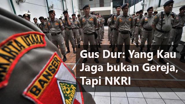 Gus Dur Perintahkan jaga Gereja dengan Niat Jaga Indonesia