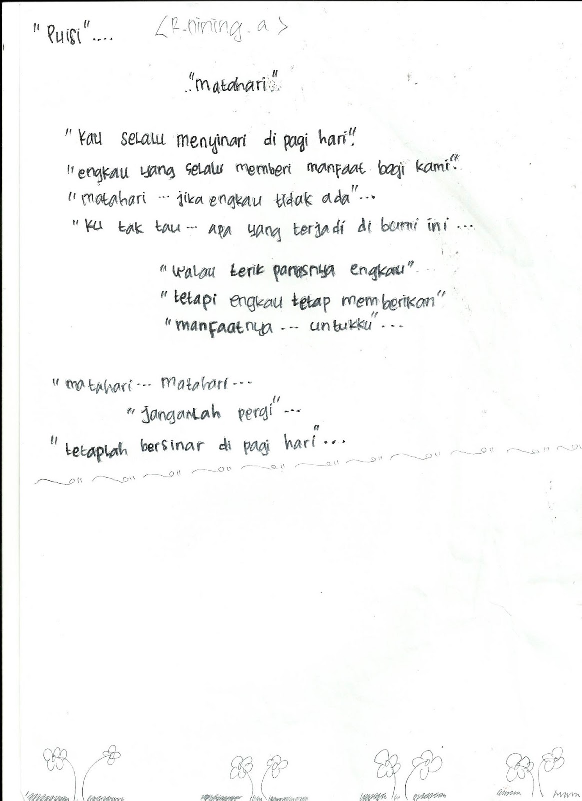Kumpulan Puisi Siswa Kelas 8 Smpit Hidayatullah Step By Step