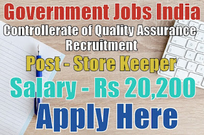 Controllerate of Quality Assurance Recruitment 2017