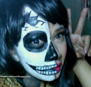 Halloween Makeup Inspiration: Half Skull Face Makeup