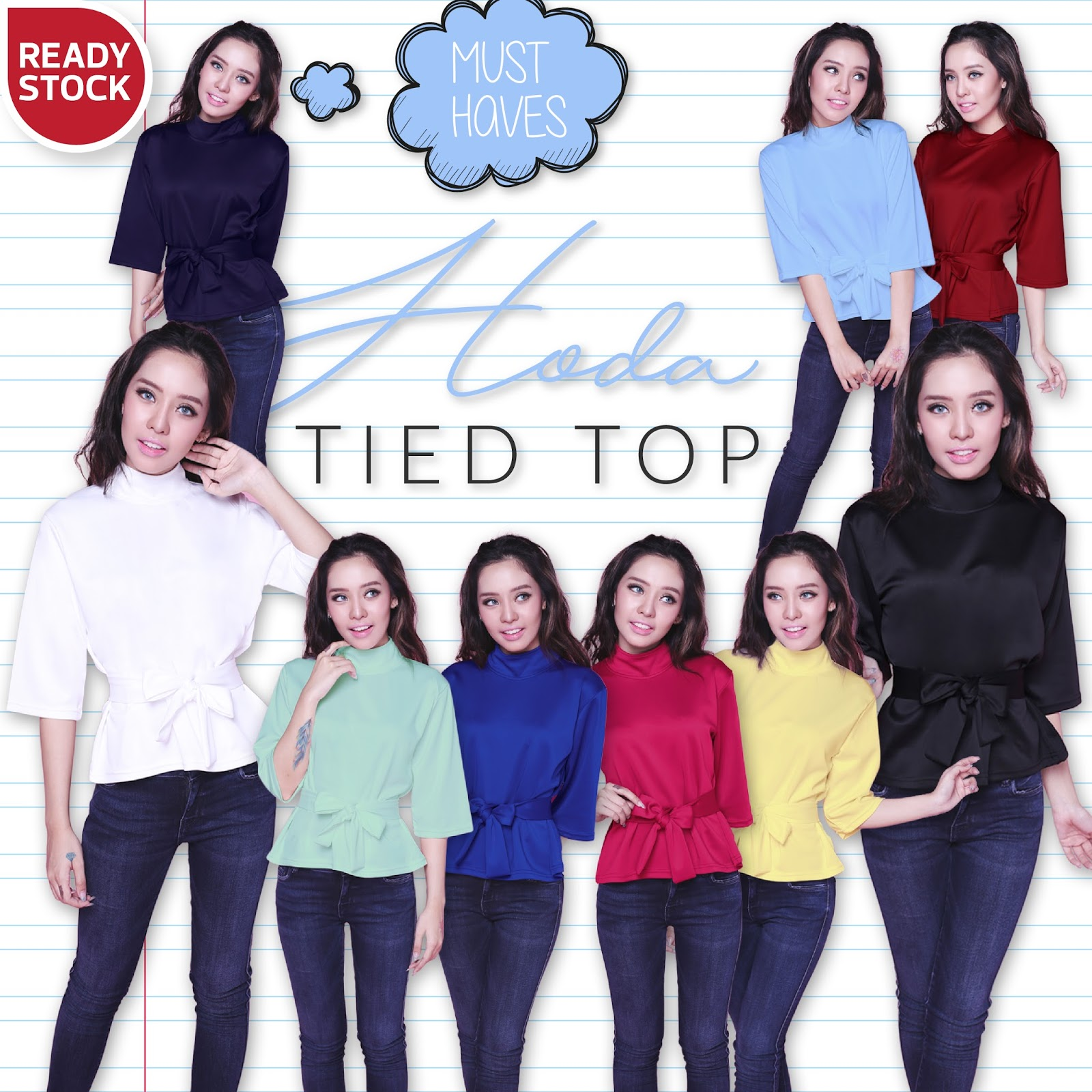 HODA TIED TOP