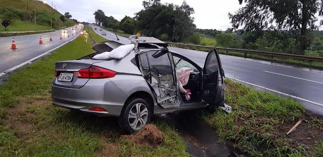 Motorista de 41 anos morre após atropelar cavalo na Fernão dias em MG — Foto: Polícia Rodoviária Federal