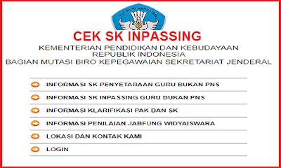 Cara cek SK Inpassing Guru bukan PNS 2018
