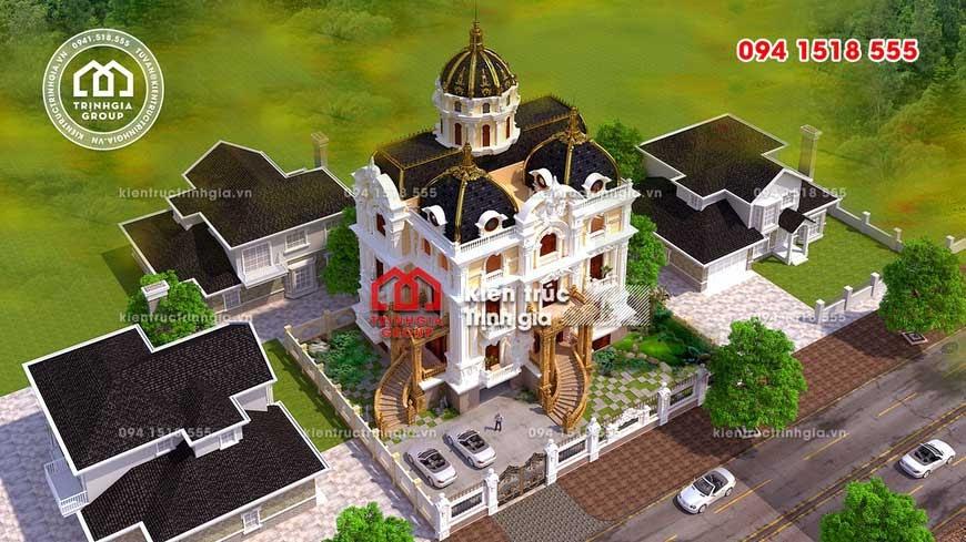 Thiết kế biệt thự lâu đài 3 tầng Pháp đẹp ở Châu Quỳ, Hà Nội - Ảnh 3