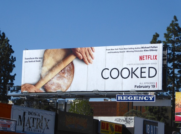 Netflix Cooked series premiere billboard