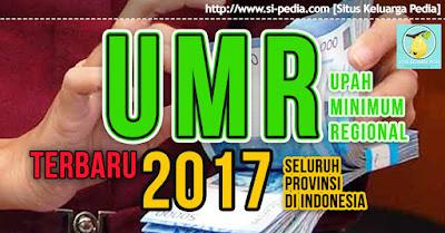 UMR 2017 Semua Provinsi se Indonesia