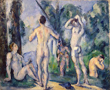 Bathers by Paul Cezanne - Genre Paintings from Hermitage Museum