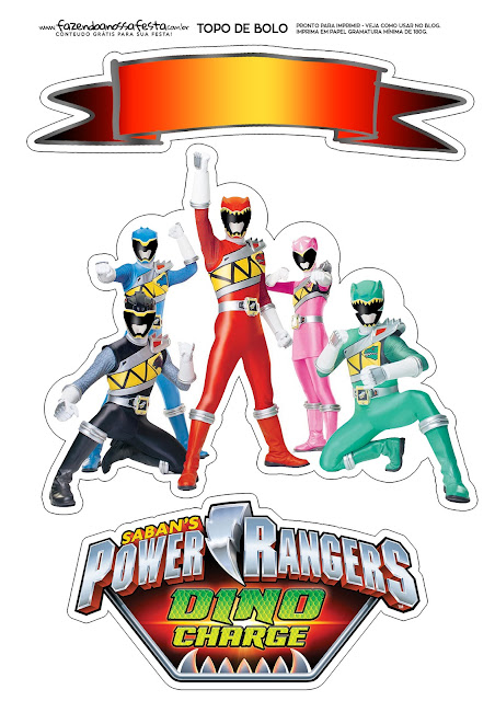 Power Rangers:  Free Printable Cake Toppers.