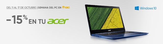 5 mejores ofertas Acer Week de Fnac.es