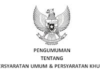 Download Persyratan Umum dan Tambahan Pendaftaran CPNS 2017