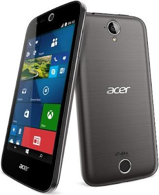 Acer Liquid M330, Ponsel 4G LTE Berbasis Windows 10 Mobile