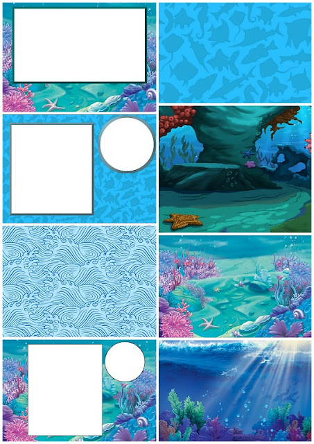 This is an image of Punchy Under the Sea Printables Free