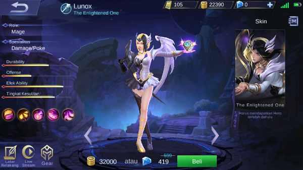 Guide Lunox Mobile Legend, Build, Skill, Ability, Set Emblem Yang Cocok, Hingga Tips Menggunakannya