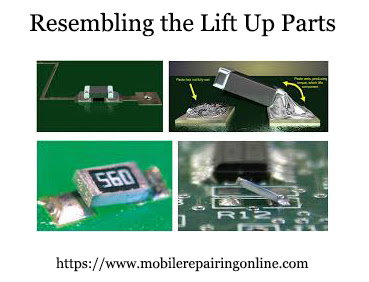 resembling the lift up parts like the diodes, resistance on the pcb